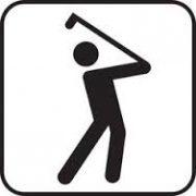 golf-sign-bw